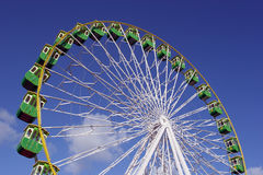 Giant Wheel. Isolated in blue sky background royalty free stock photography