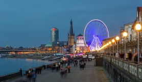 Giant wheel at the Burgplatz in Dusseldorf Royalty Free Stock Image