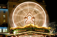 Giant Wheel at Christmas Market in Dresden Royalty Free Stock Photo
