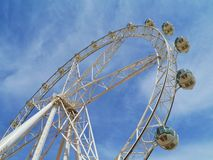 The giant wheel in the Dockland of Melbourne Royalty Free Stock Photos