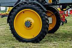 Giant wheel farm vehicle Stock Photo