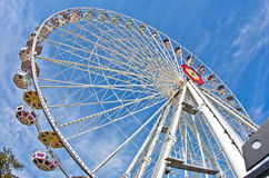 Giant wheel in Prater amusement park at Vienna Royalty Free Stock Images