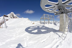 Giant wheel from the top of a ski lift Stock Image