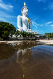 Giant white Buddha statue Stock Images