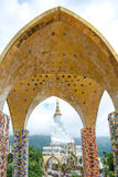 Giant white buddha at Wat Pha Sorn Kaew temple Stock Image