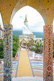Giant white buddha at Wat Pha Sorn Kaew temple Stock Images