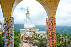 Giant white buddha at Wat Pha Sorn Kaew temple Royalty Free Stock Photography