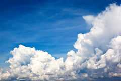 Giant White  clouds and a blue sky Royalty Free Stock Images