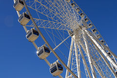 Giant white ferris wheel at Southbank Parkland Royalty Free Stock Images