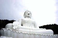 giant white image of Buddha 4 Royalty Free Stock Photography