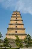 Giant Wild Goose Pagoda. Located in XiAn China, it's the famous ancient architecture, they are regarded as a symbol of the ancient capital of XiAn Royalty Free Stock Photo