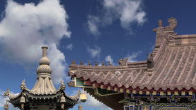 Giant Wild Goose Pagoda or Big Wild Goose Pagoda, is a Buddhist pagoda located in southern Xian Sian, Xi`an, China stock footage