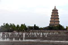 Giant Wild Goose Pagoda Dayan Pagoda, Xian, China royalty free stock photos