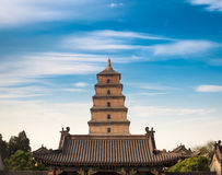 Giant wild goose pagoda in sian Stock Photo