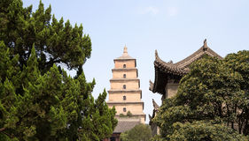 Giant Wild Goose Pagoda, Xian Stock Photo