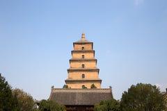 Giant Wild Goose Pagoda,  Xian, China Stock Photos