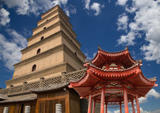 Giant Wild Goose Pagoda, Xian, China Royalty Free Stock Photography
