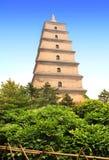 Giant Wild Goose Pagoda, Xian, Shaanxi province, China Royalty Free Stock Photos