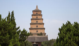 Giant Wild Goose Pagoda,  Xian (Sian, Xi'an), Shaanxi province, China Royalty Free Stock Photos