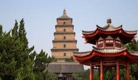 Giant Wild Goose Pagoda,  Xian (Sian, Xi'an), Shaanxi province, China Stock Photo