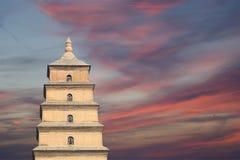 Giant Wild Goose Pagoda, Xian (Sian, Xi'an), Shaanxi province, China Royalty Free Stock Image