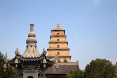 Giant Wild Goose Pagoda, Xian (Sian, Xi'an), Shaanxi province, China Royalty Free Stock Photo