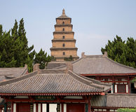 Giant Wild Goose Pagoda, Xian (Sian, Xi'an),Shaanxi province, China Royalty Free Stock Photos