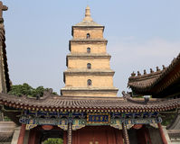 Giant Wild Goose Pagoda. Xian (Sian, Xi'an),Shaanxi province, China Stock Photo