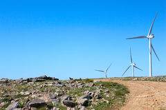 Giant Wind  Mills (path) Stock Images