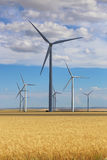 Giant wind turbine power energy plant in Montana Royalty Free Stock Photography