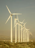 Giant Wind Turbines in West Texas Royalty Free Stock Images