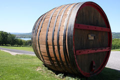 Giant wine barrel Stock Photos