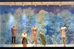 Giant woman's fashion shop window Royalty Free Stock Photography