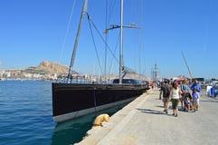 A Giant Yacht - Sailing Luxury Boat Stock Image