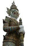 Giant yaksha demon statue at the Grand Palace in Bangkok, Thailand. Ornate giant demon statue standing guard at the Thai Grand Palace Stock Image