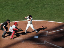 Giants Batter stands in Batters box waiting Royalty Free Stock Photography