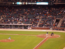 Giants Batter waits on incoming pitch Stock Photography