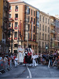 Giants and big heads in Bilbao. BILBAO, SPAIN - AUGUST 28: Giants and big heads (Gigantes y Cabezudos) in the Semana Grande de Bilbao festival on August 28th Stock Photos