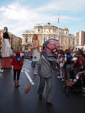 Giants and big heads in Bilbao. BILBAO, SPAIN - AUGUST 28: Giants and big heads (Gigantes y Cabezudos) in the Semana Grande de Bilbao festival on August 28th Stock Image