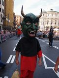 Giants and big heads in Bilbao. BILBAO, SPAIN - AUGUST 28: Giants and big heads (Gigantes y Cabezudos) in the Semana Grande de Bilbao festival on August 28th Royalty Free Stock Photos
