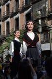 Giants and big heads in calle Mayor, Madrid Stock Image