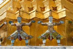 Giants Bouddha dans le palais grand, Thaïlande Images libres de droits