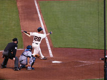 Giants Buster Posey swings through a pitch Royalty Free Stock Photo