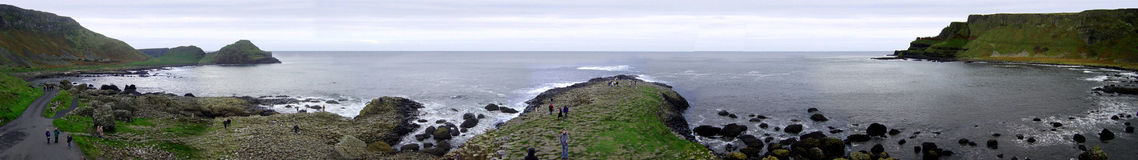 Giants Causeway. Panoramic view of the Giants Causway, Northern Ireland Stock Photography