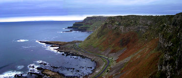 Giants Causeway. Panoramic view of the Giants Causway, Northern Ireland Stock Image