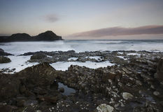 Giants Causeway. Scenic view of Giants Causeway coastline, Country Antrim, Northern Ireland Royalty Free Stock Photo