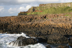 Giants Causeway. View of the Giant's Causeway, Antrim, Northern Ireland stock photo