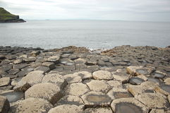 The Giants Causeway. On Northern Irelands north coast stock photography