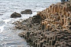 Giants Causeway. The cylinder rocks of Giants Causeway in Ireland Stock Image