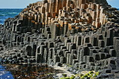 Giants Causeway Basalt Hexagonal Columns Stock Photo